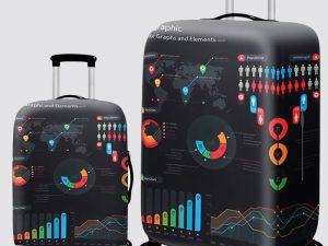 Housse de protection valise Black