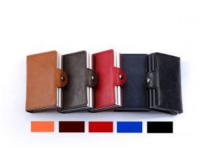 Portefeuille antivol pour homme sac à main femme petit porte-carte femme Crazy Horse cuir portefeuille carte de voyage