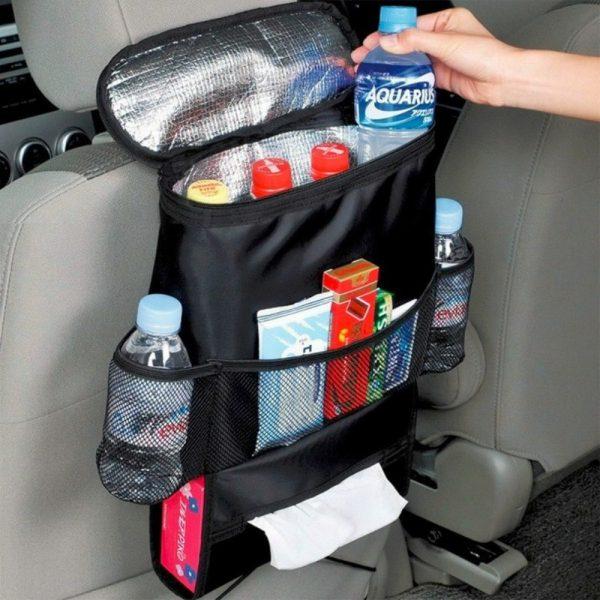 Sac de sac de glace de siège arrière de voiture automatique sac d'isolation alimentaire cintre de sac de voyage multi-poches pour la poche de stockage de capacité automatique